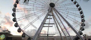 Cancún como Londres: inaugura su propia rueda de la fortuna
