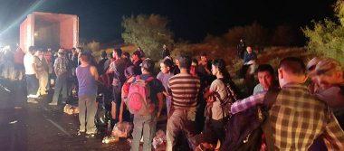 Descubren 119 indocumentados que viajaban hacinados en un tráiler en Reynosa