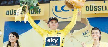 Geraint estrenó el maillot amarillo del Tour de Francia