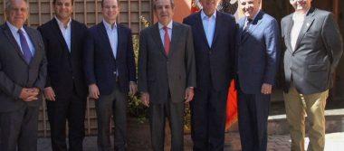 Anaya se reúne con expresidentes chilenos que derrotaron a Pinochet