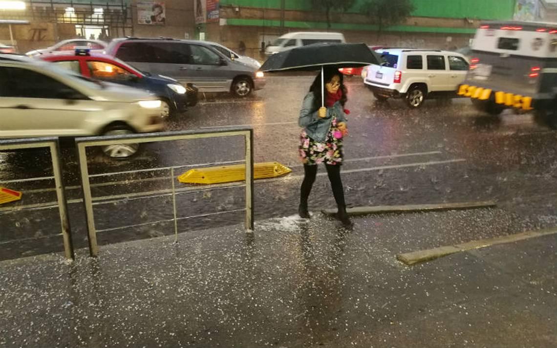 Activan alerta amarilla por lluvia y granizo en seis delegaciones de la CDMX