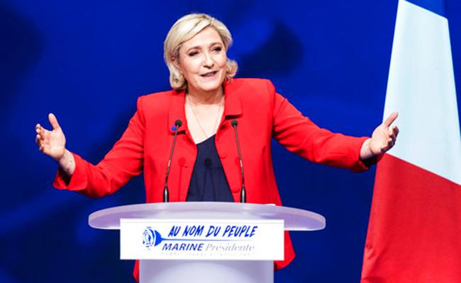El FN de Marine Le Pen aborda las urnas en crítica situación