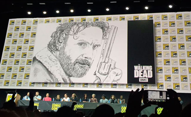The Walking Dead recuerda en Comic-Con a doble fallecido en pleno set