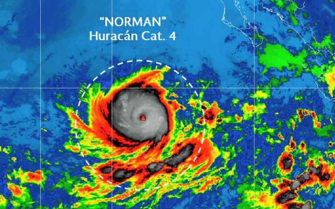 Norman se fortalece a huracán y alcanza categoría 4 sin afectar costas mexicanas