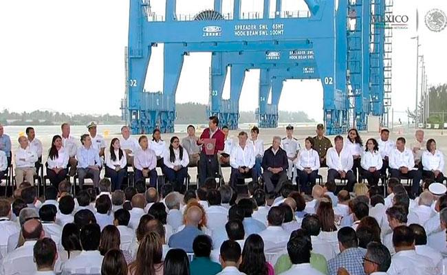 Peña Nieto inaugura nuevo puerto de Tuxpan en Veracruz