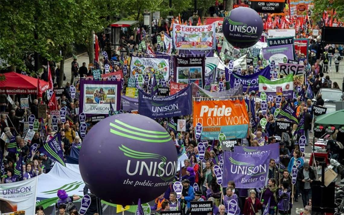 Gran manifestación en Londres por mejora de salarios y derechos laborales
