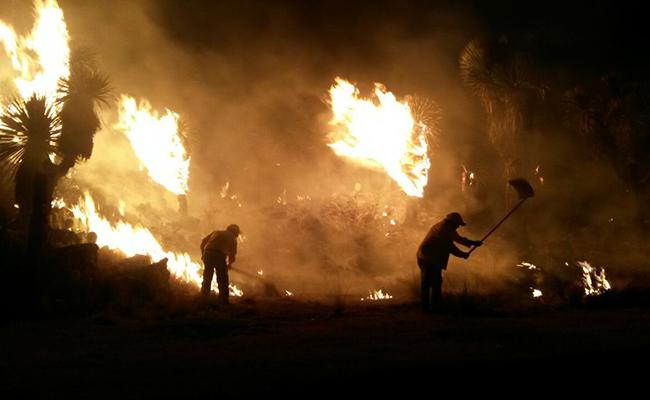 Se incendia paraje Paxtepec, en Perote