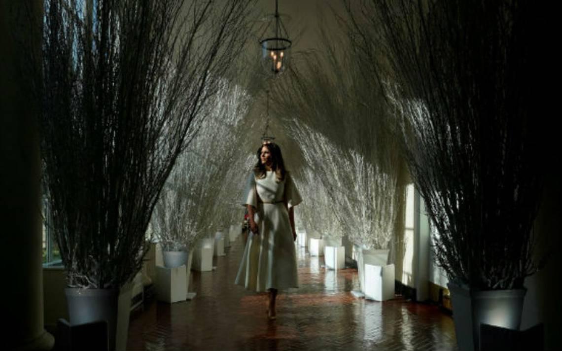 ¿Melania se inspiró en 'Stranger Things' para su decoración navideña en la Casa Blanca?