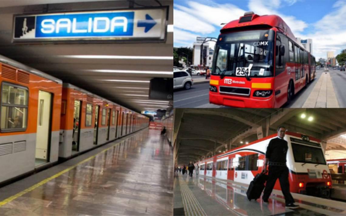 Metro, Metrobús y Tren Suburbano con horario de día festivo este lunes