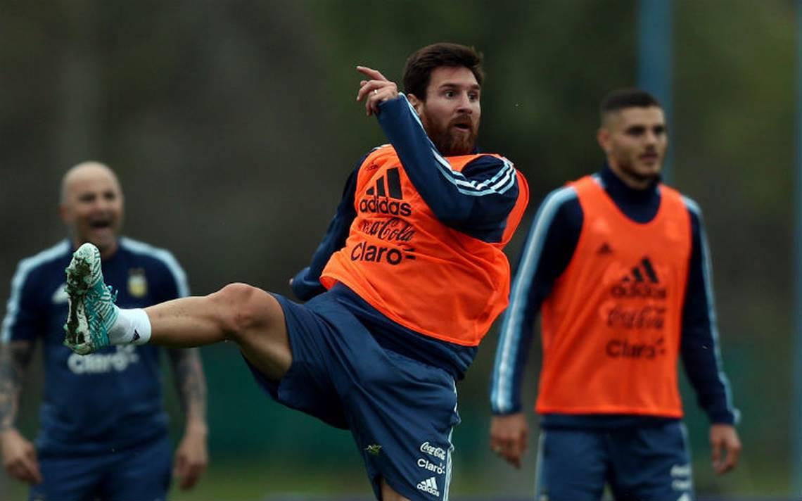 Messi busca jugar en el once ante España