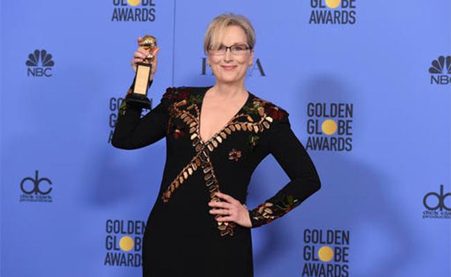 Meryl Streep recibe Globo de Oro con críticas a Trump