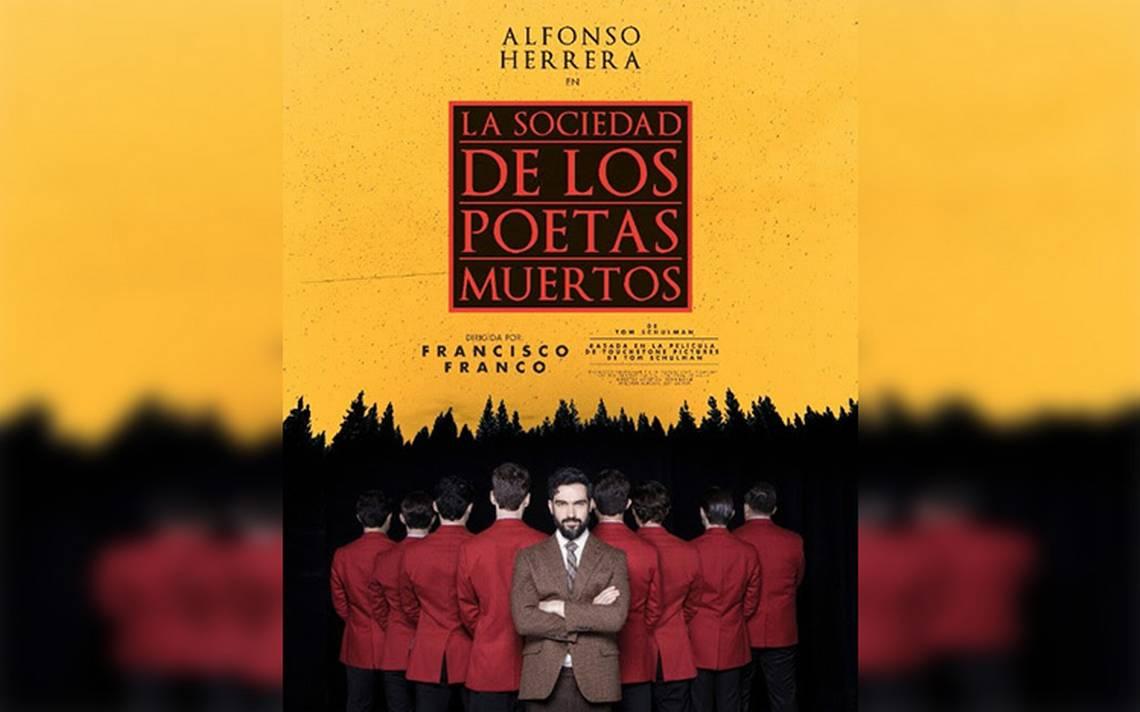 """Alfonso Herrera en la obra """"La sociedad de los poetas muertos"""""""