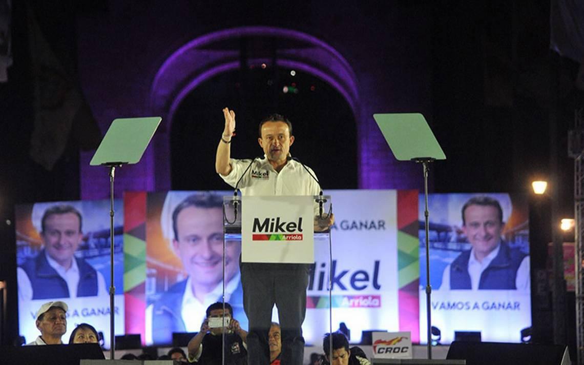 El candidato del PRI Mikel Arriola promete acabar con inseguridad