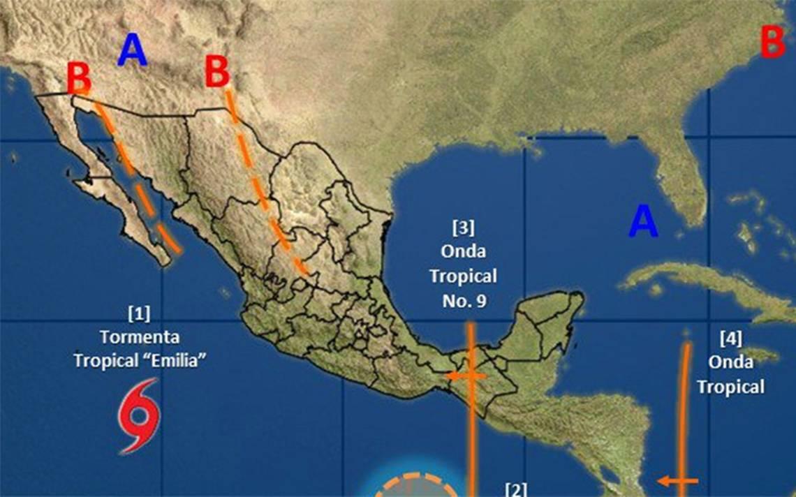 Depresión se convierte en Tormenta Tropical Emilia; se ubica en Baja California Sur