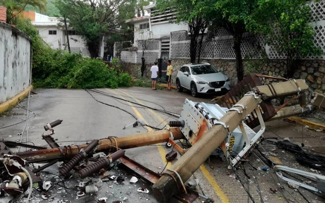 Carlotta deja daños en 19 municipios de Guerrero
