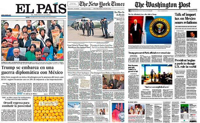 Así reacciona la prensa internacional ante tensa relaciónTrump-México