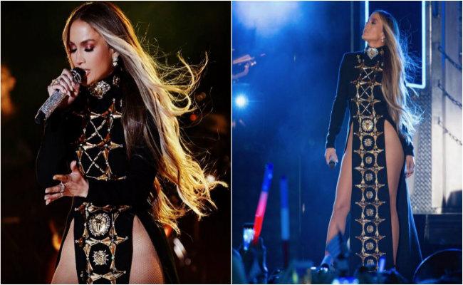 Jennifer Lopez se deja ver en sexy vestido… ¿sin ropa interior?
