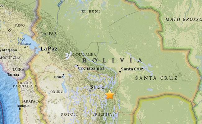 Se registra sismo de 6.5 grados de magnitud en Bolivia