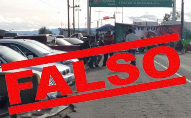 Falsos rumores de nuevo bloqueo en La Rosita, BC