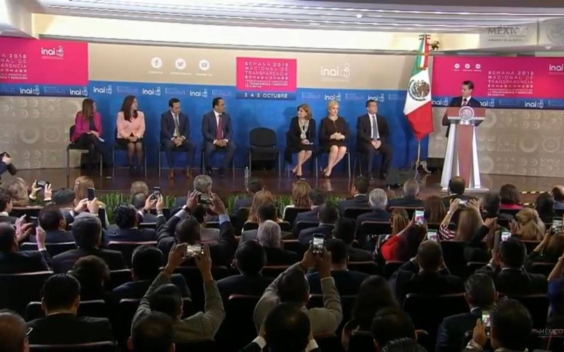 Sistema de Transparencia en MA�xico es sA?lido, amplio y robusto: EPN
