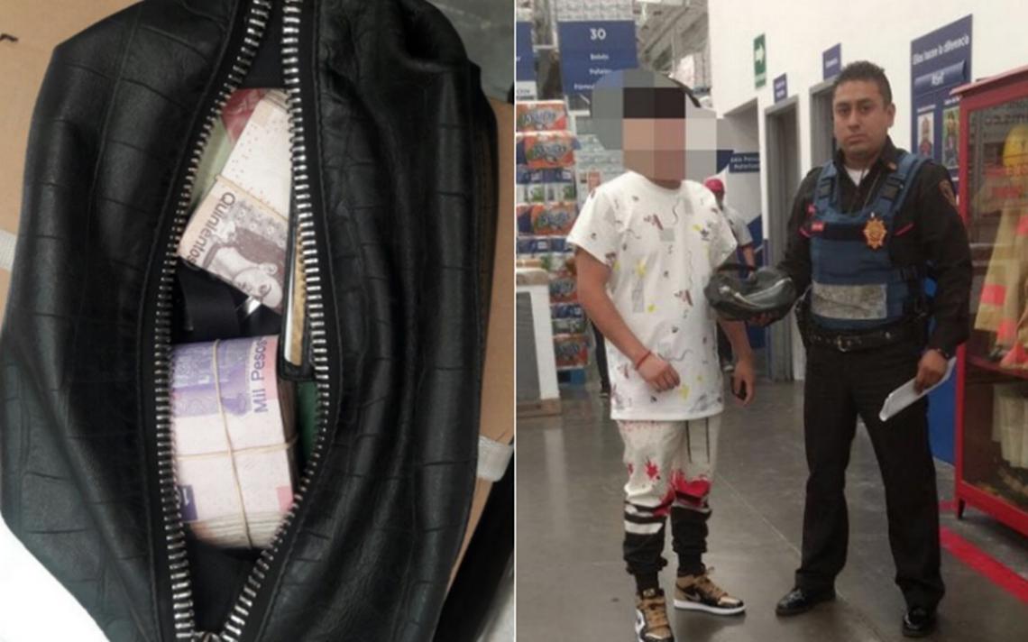 Policía devuelve 110 mil pesos que encontró en un carrito super