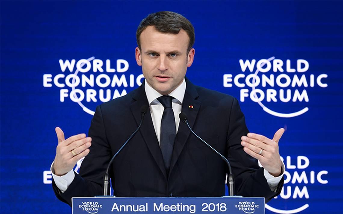 """Durante Foro de Davos, Macron propone un """"nuevo contrato mundial"""""""