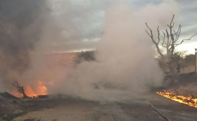 Se registra explosión tras robo de gasolina en ducto