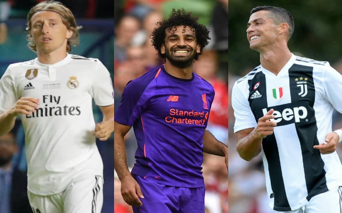 Cristiano, Modric y Salah, nominados al Jugador del Año