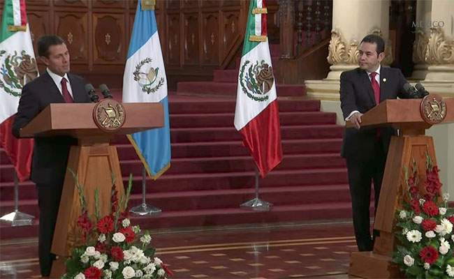 México trabajará para mantener comunicación con Guatemala: Peña Nieto