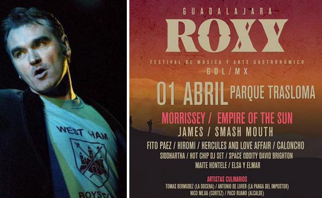 ¡Se cumplió! Morrissey encabeza Festival Roxy