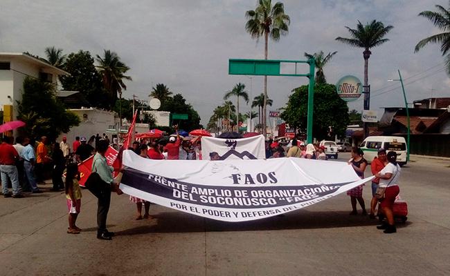 Marchan en Tapachula contra la inseguridad