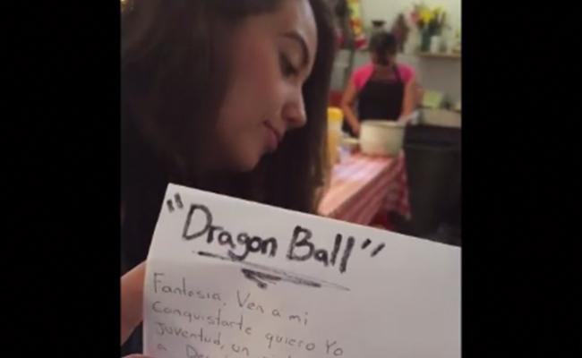 """Le escribe poema a su novia… Resultó ser una canción de """"Dragon Ball"""""""