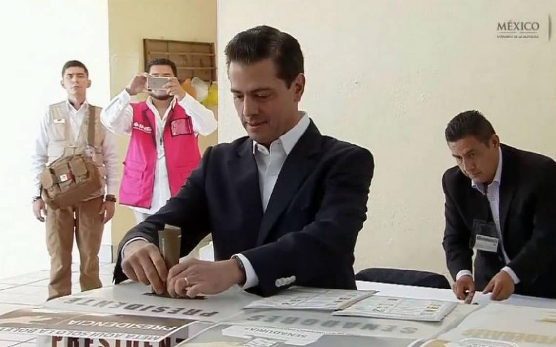 Peña Nieto afirma que será respetuoso y dará respaldo a las autoridades que resulten electas