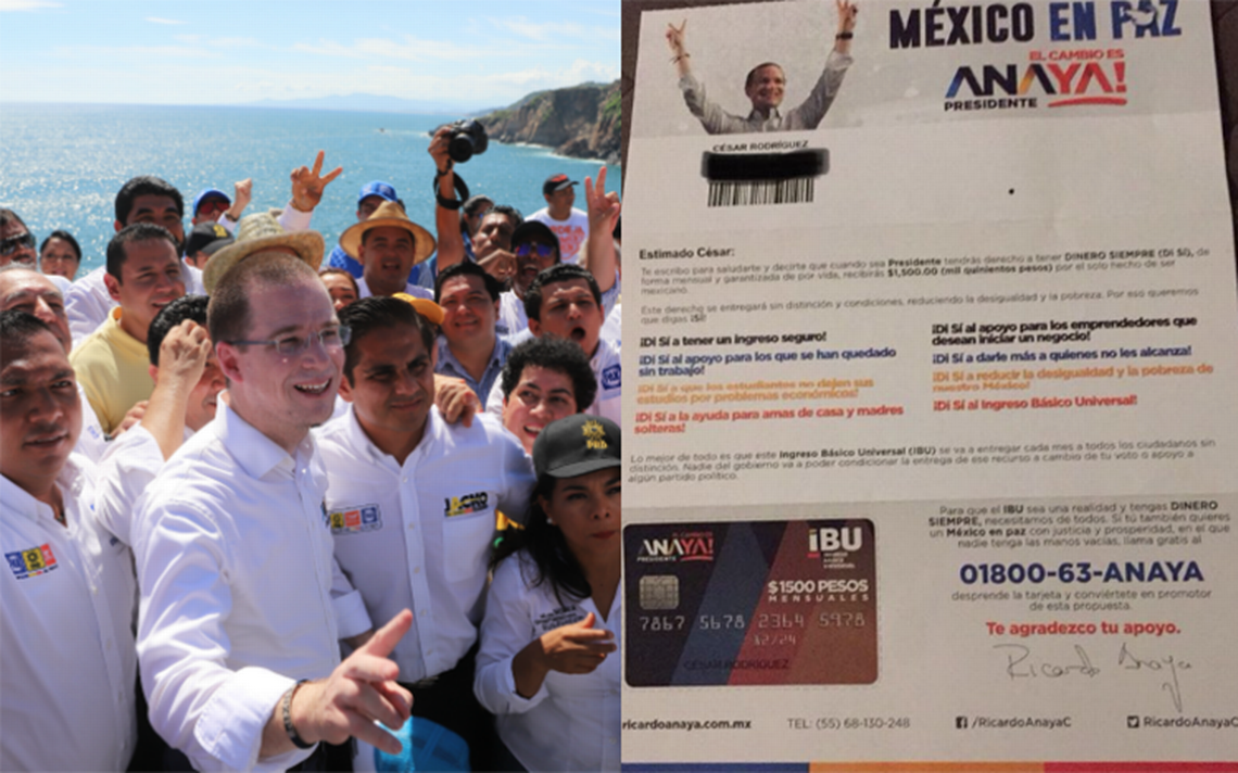 """""""No es compra de voto"""", INE avala tarjetas de Ricardo Anaya"""
