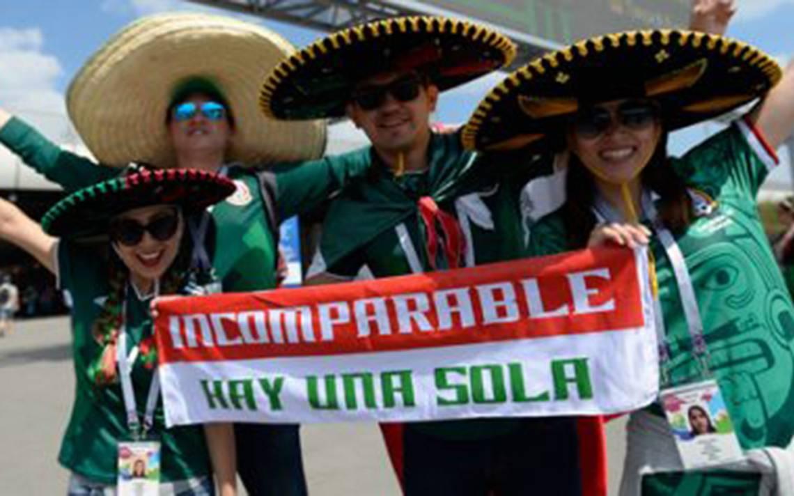 Samara también es verde, blanca y roja. La afición mexicana se hace presente de nuevo