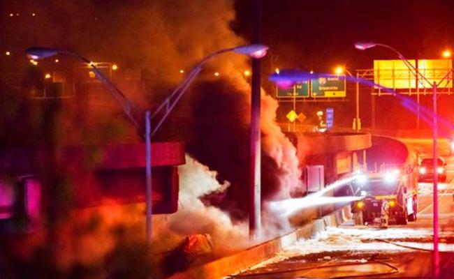 Colapsa autopista elevada en Atlanta por incendio