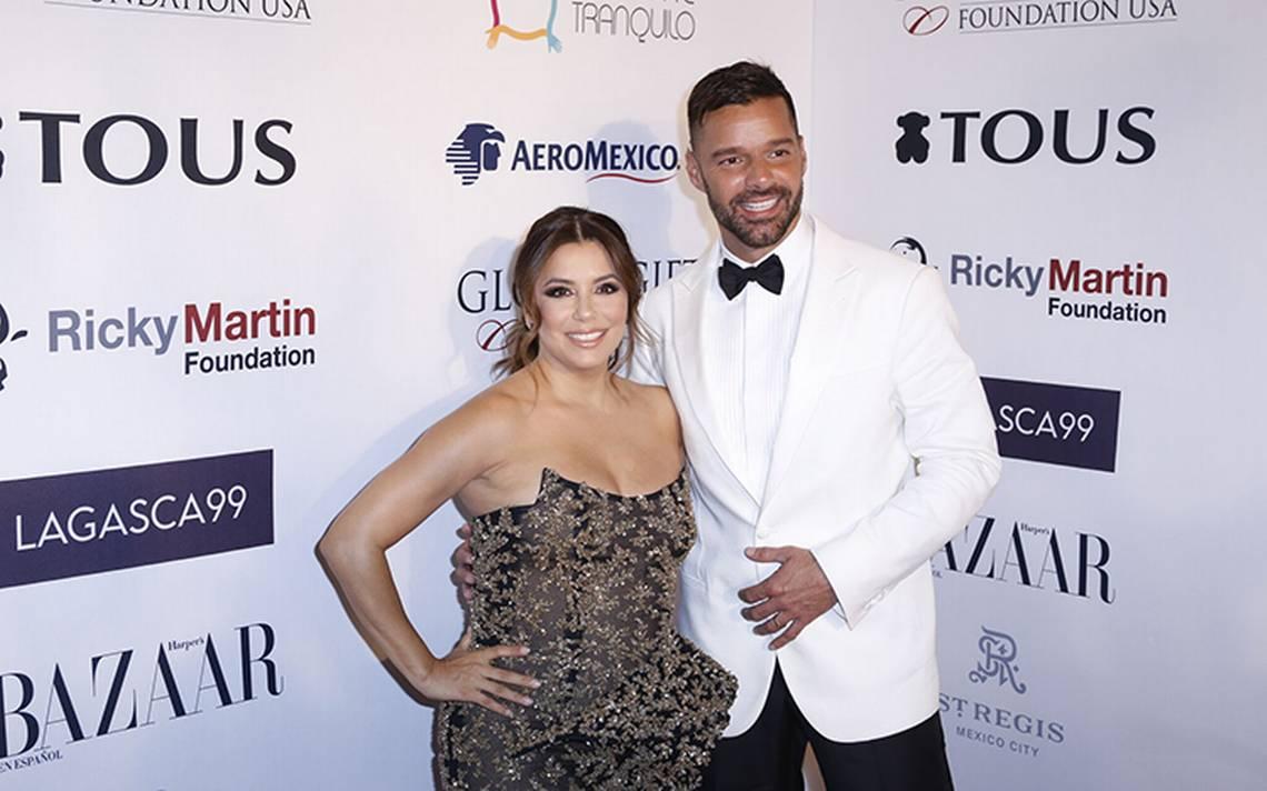 Eva Longoria y Ricky Martin recaudan fondos en MA�xico