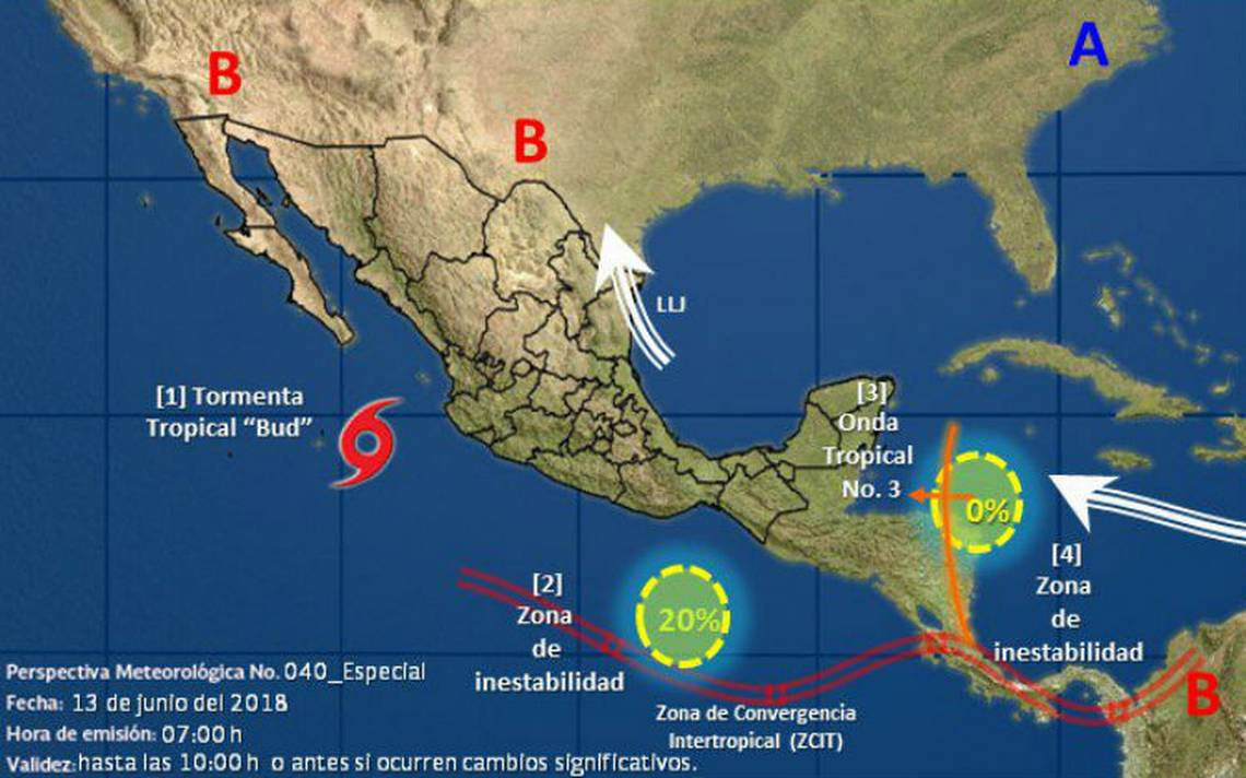 Bud se degrada a tormenta tropical frente a costas de Jalisco