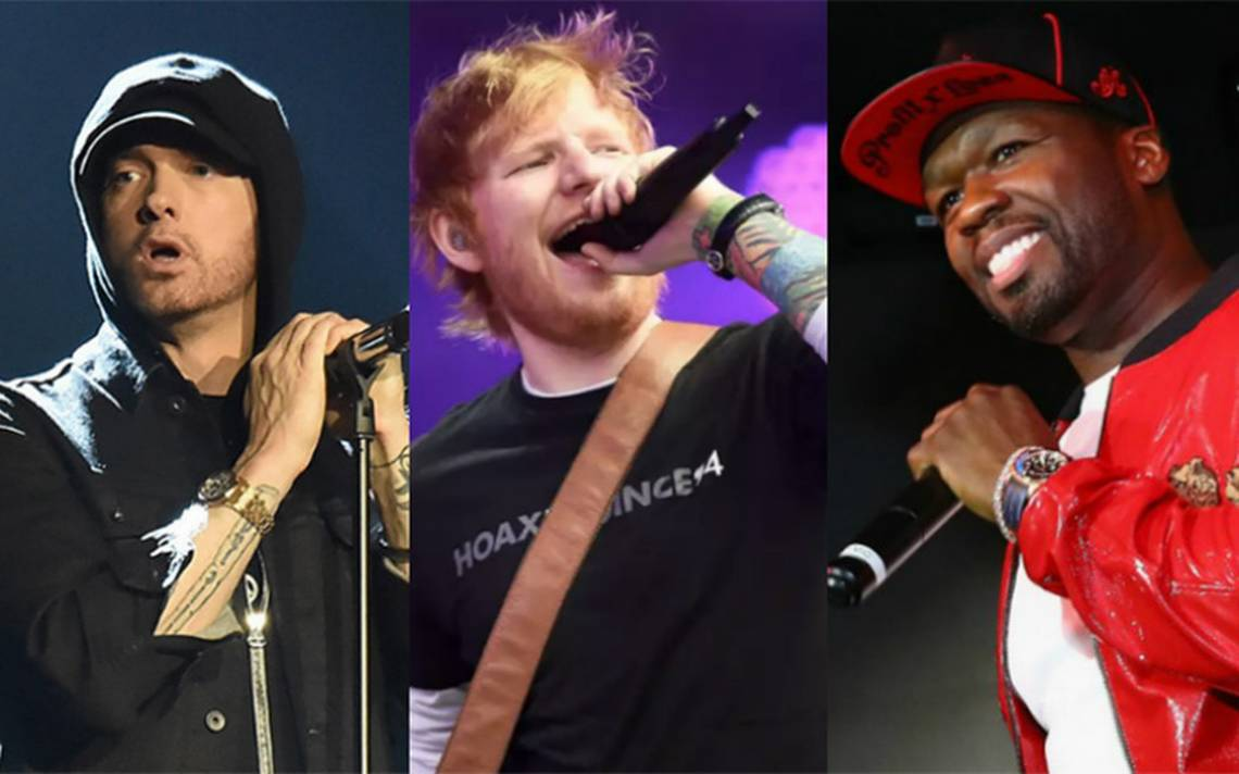 Esta es la selfie de Eminem con Ed Sheeran y 50 Cent de la que todos hablan