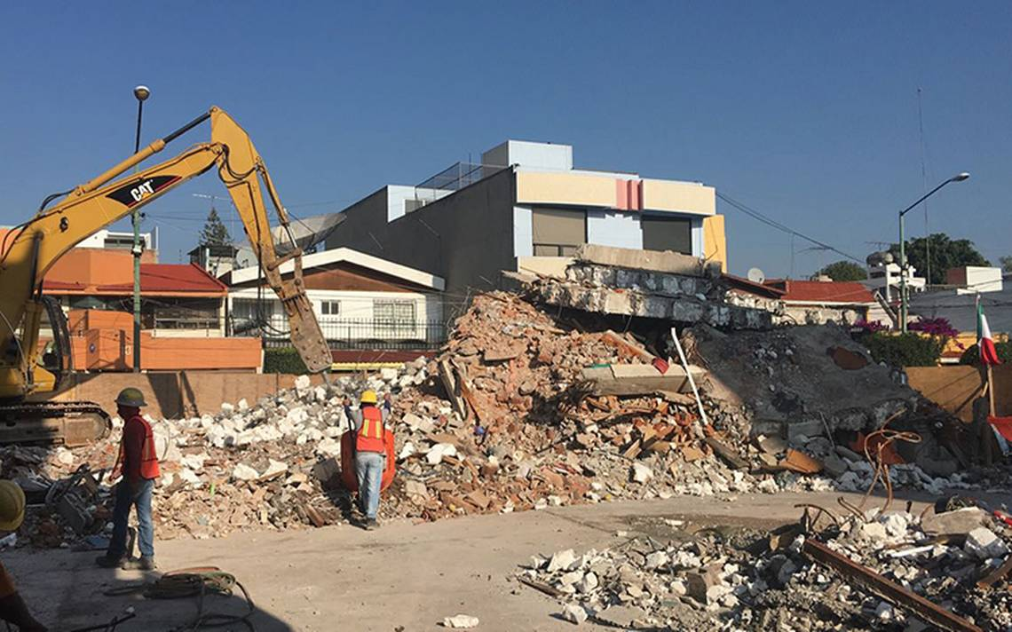 Termina demolición de edificio del Rébsamen colapsado el 19s