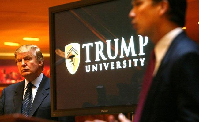 Trump debe pagar 25 mdd por engaños de la universidad que él creó