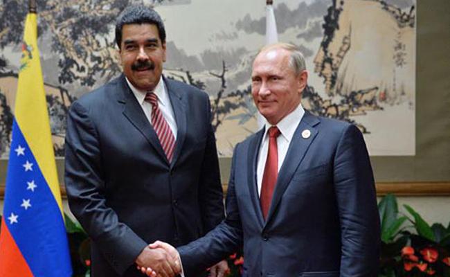 """Putin expresa a Maduro su admiración por gobernar Venezuela """"con coraje"""""""