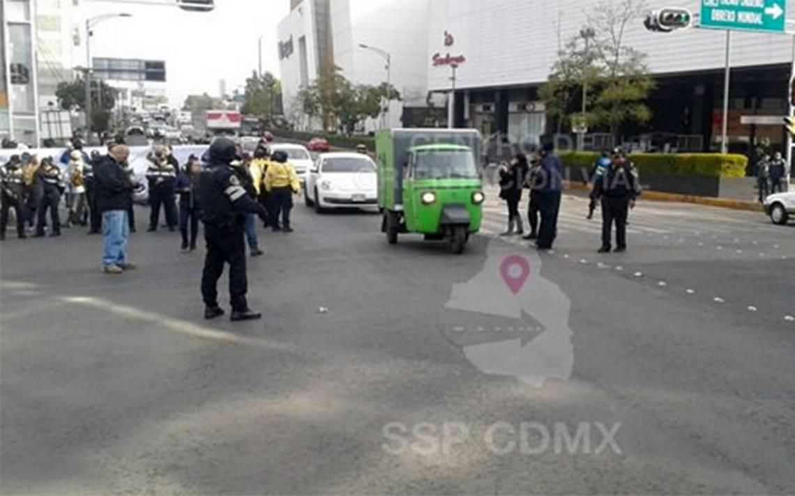 Manifestantes retiran bloqueo de Cuauhtémoc y Obrero Mundial
