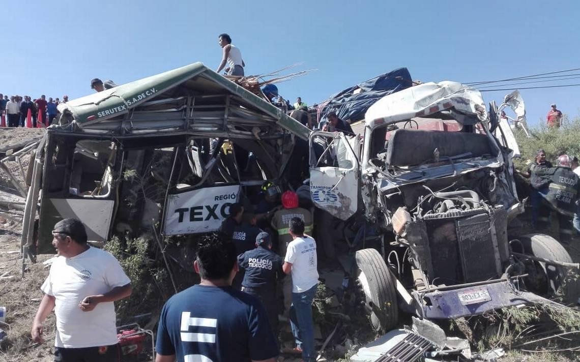 Suspenden servicio de camiones de Texcoco tras accidente que dejó 11 muertos
