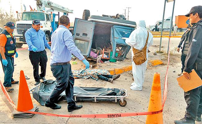 Trágico accidente de jornaleros en Altamira