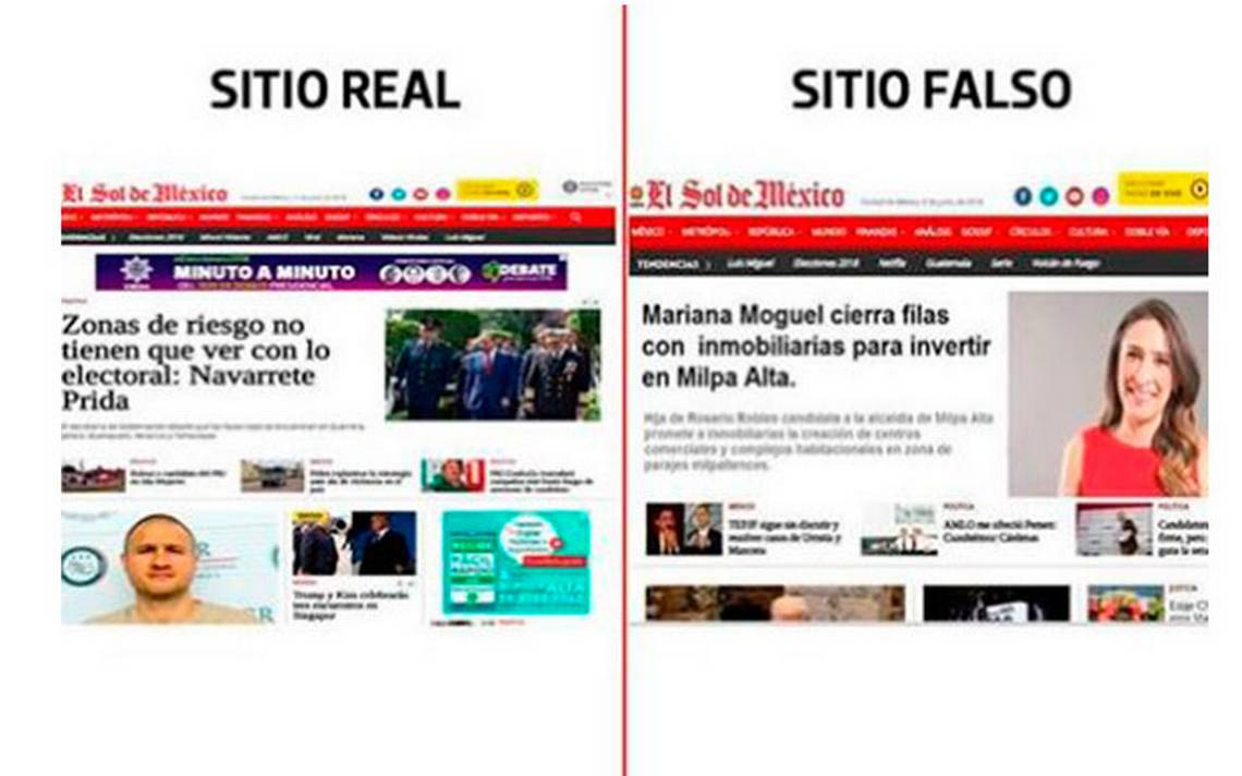 Imagen sobre Mariana Moguel e inmobiliarias en Milpa Alta en El Sol de México, ¡fake news!