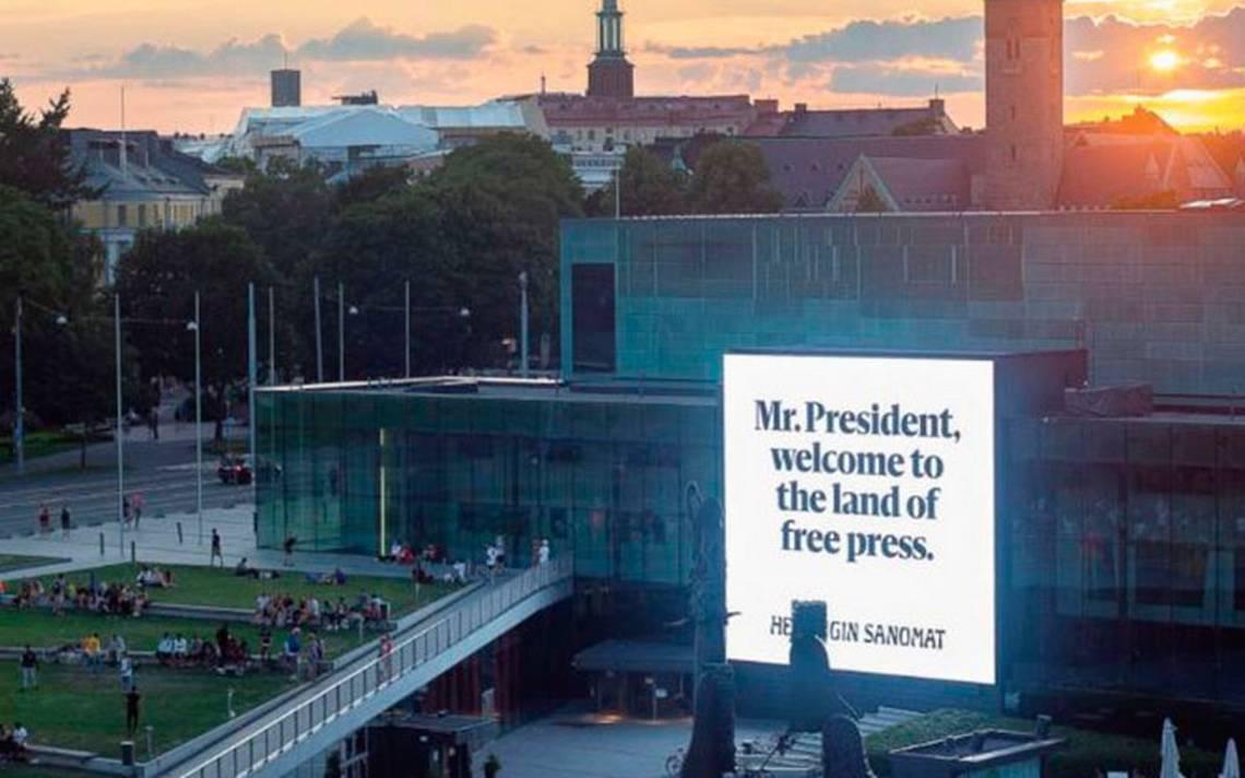 Trump y Putin, bienvenidos a Finlandia, la tierra de la libertad de prensa: Helsingin Sanomat