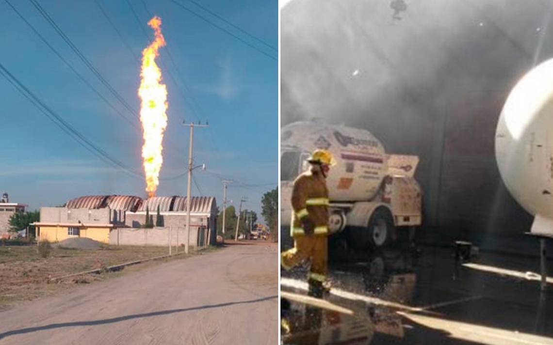Al menos un lesionado por incendio de pipa de gas en Zumpango