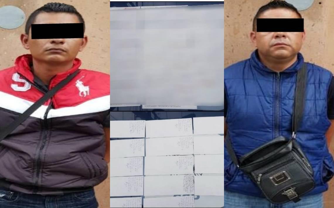 Detienen a dos hombres con 14 cheques, la cantidad asciende a más de 1 millón de pesos