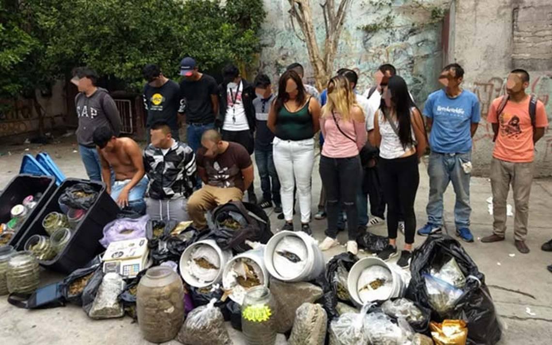 Operativo contra narcomenudeo en Tepito deja 18 detenidos